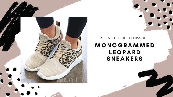 monogrammed leopard sneakers