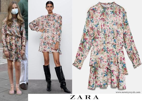 Princess Leonor wore Zara printed midi dress