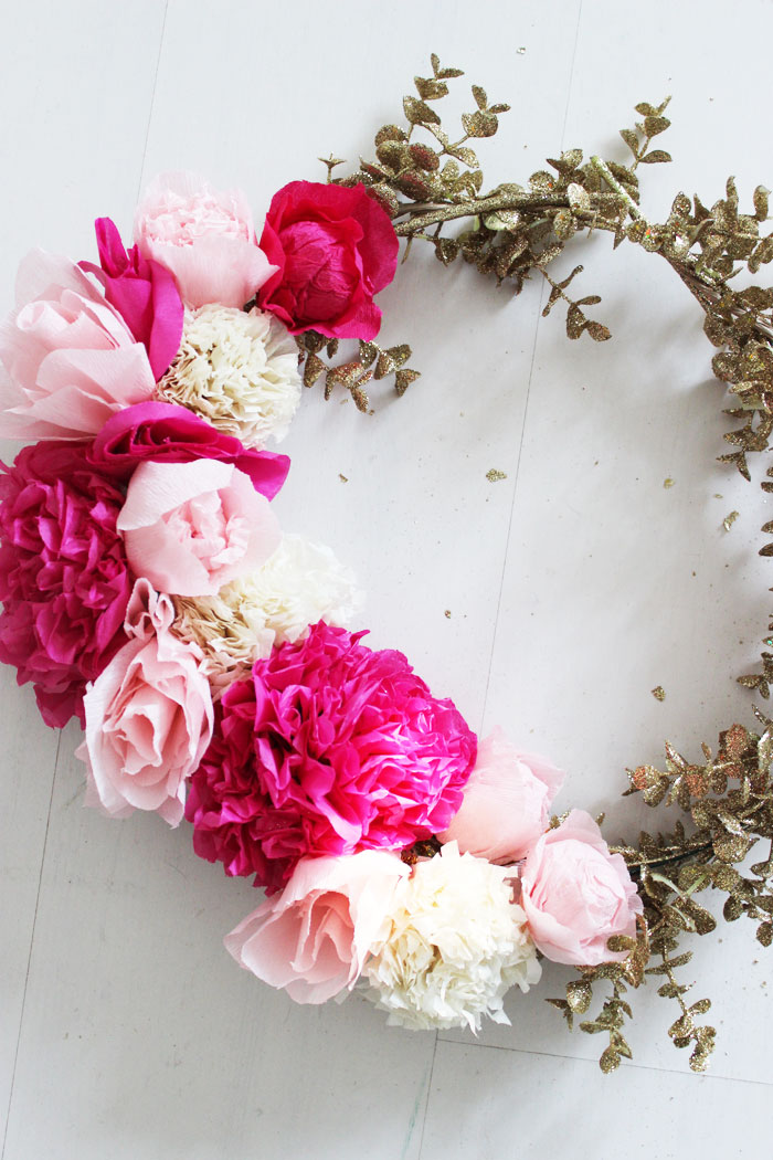 Diy Paper Flower Wreath Poppytalk