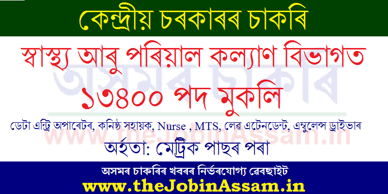 Ministry of Health and Family Welfare Department Recruitment 2020: