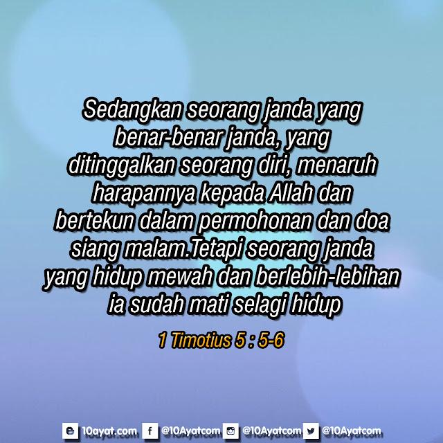 1 Timotius 5 : 5-6