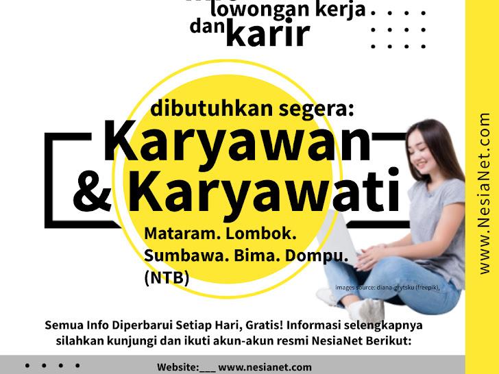 Info Lowongan Kerja Mataram Lombok NTB Setiap Hari