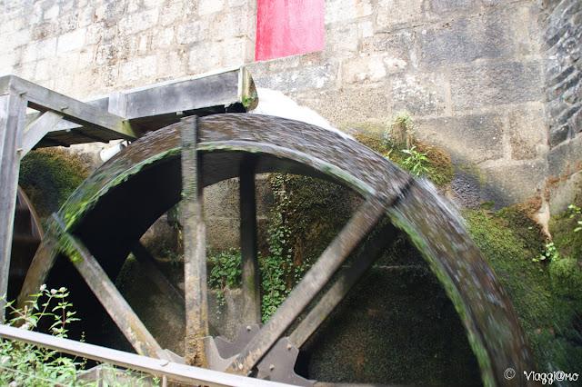Pale ad acqua del mulino presente nel castello di Fougeres