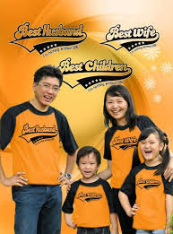 Model Kaos Couple Keluarga 2 Anak Terbaru