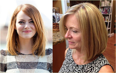 Shoulder Length Straight Bob Hairstyle - Hairstyles For Gray Hair Over 60