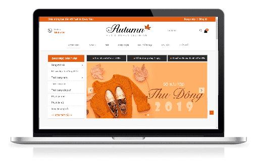 Giao diện blog bán hàng thời trang và phụ kiện