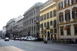 Corso Venezia, with the Art Nouveau palace Palazzo  Castiglioni in the centre, third building from the right