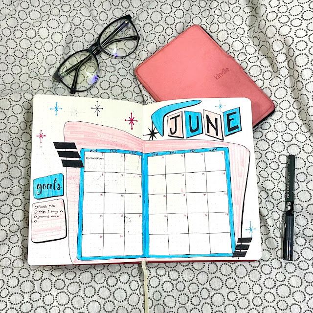 June 2020 Monthly Spread | Renee Alexis