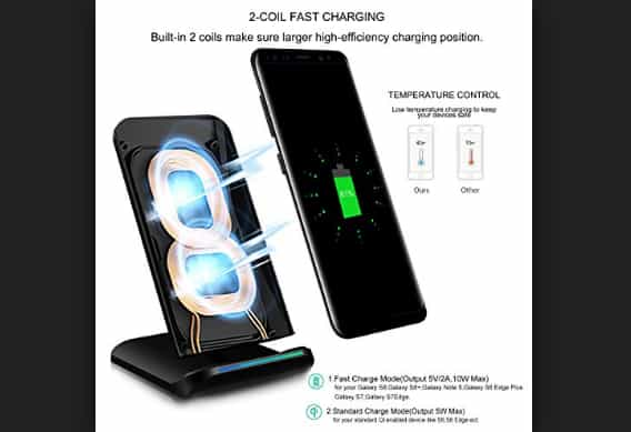 Pleson 2 Coils Wireless Charger