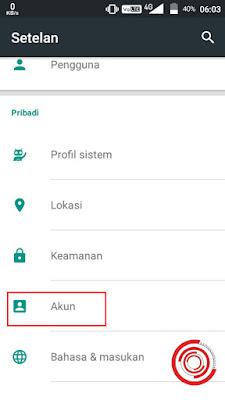 1. Langkah pertama untuk melihat semua email di HP Android kita silakan kalian buka Setelan lalu pilih Akun