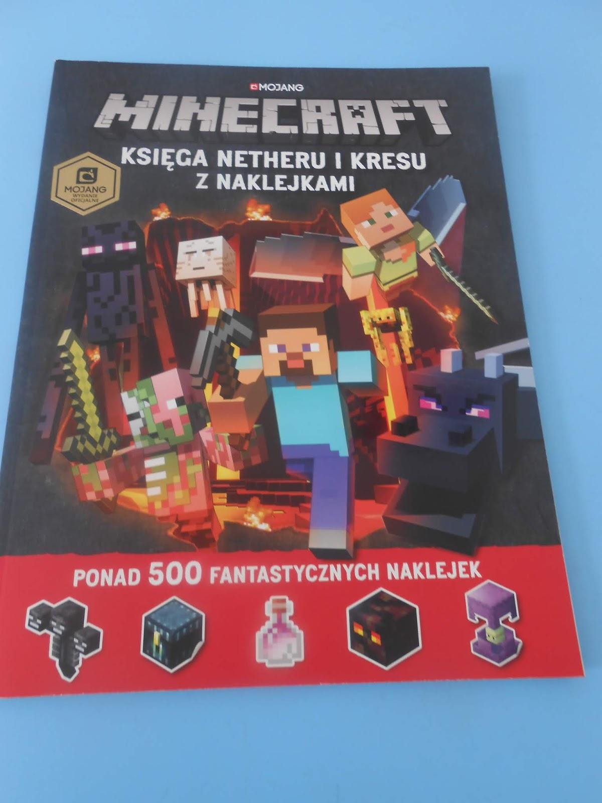 Egmont- Minecraft. Księga Netheru i Kresu z naklejkami