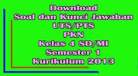 download soal dan kunci jawaban uts pts pkn kelas 4 sd semester 1 kurikulum 2013