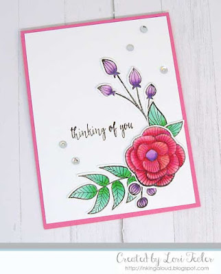 Thinking of You card-designed by Lori Tecler/Inking Aloud-stamps from Altenew