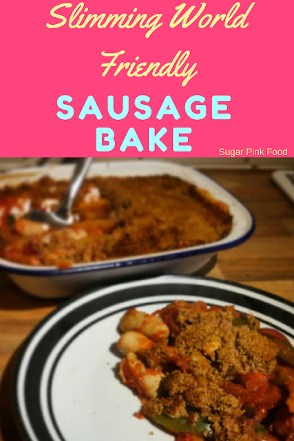 sausage bake  Sausage and Vegetable Bake with Crumb Topping slimming world