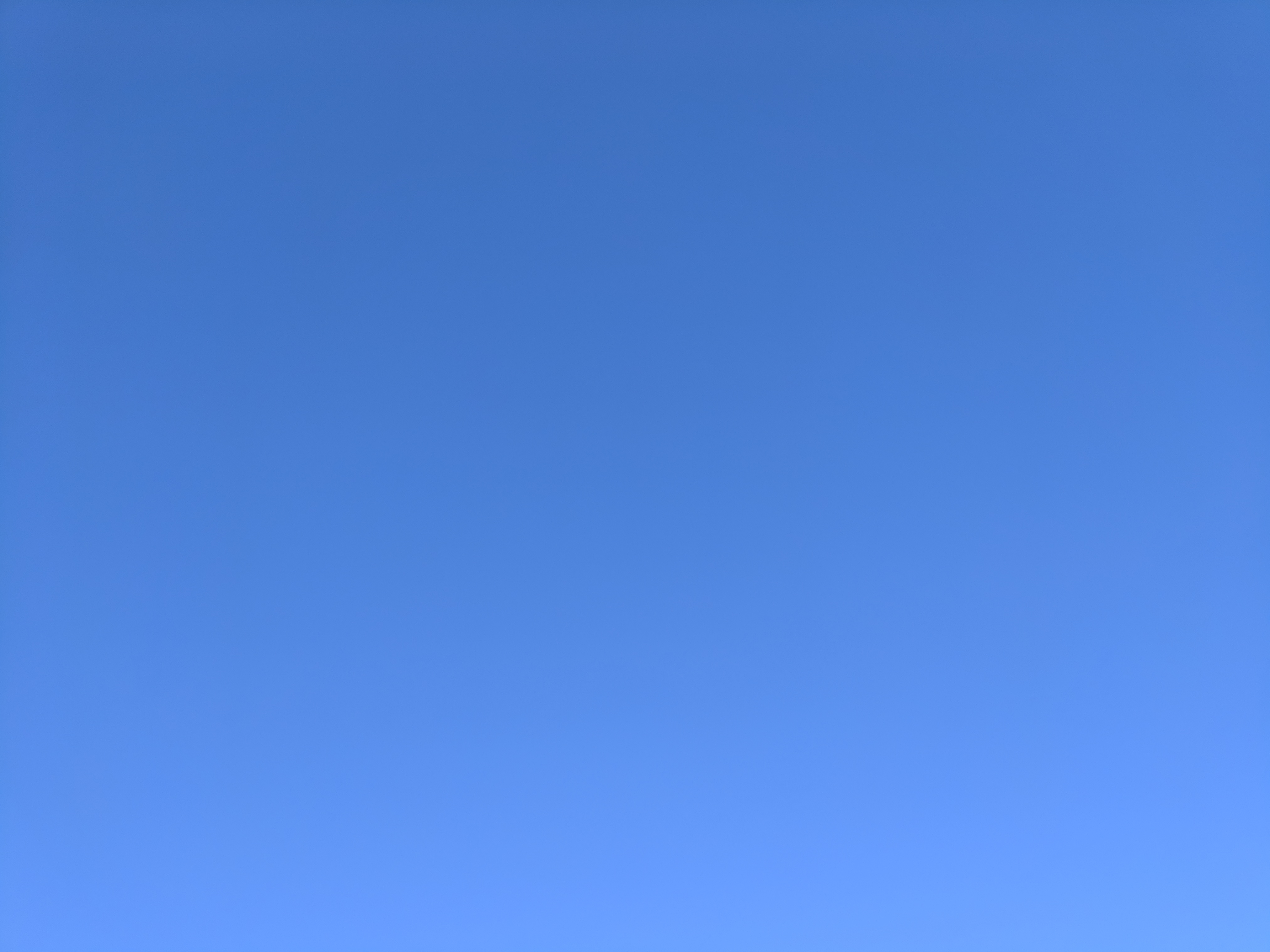 Blue sky above Sydney, Australia