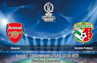 Prediksi Arsenal vs Vorskla Poltava 21 September 2018