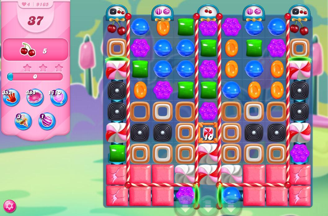 Candy Crush Saga level 9165