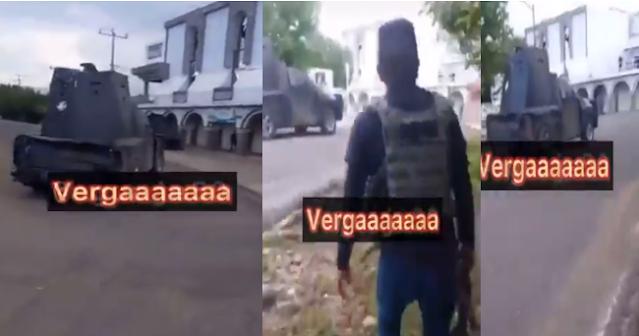 Video: Los Viagras en la calle con monstruo blindado que parece tanque de guerra, El Aguaje ya es de Los Viagras, te voy a matar Mencho donde esta no que muy acá