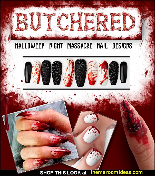 Blood drip nails bloody nails Blood drip press on nails Halloween Night Massacre Press on Nails nail art designs