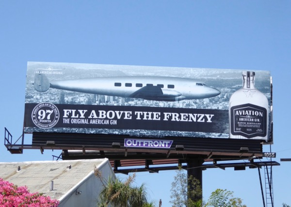 Aviation Gin Fly above the frenzy billboard