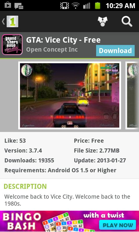 download gta vice city android app