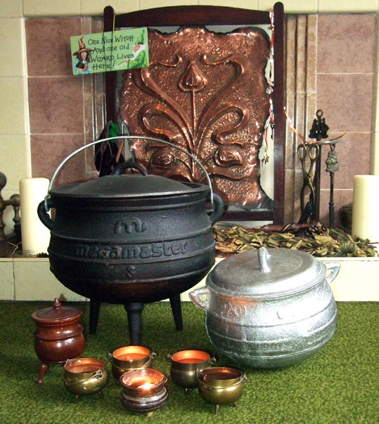 i have eight cauldrons nine if you also count a plastic halloween bucket i own the large cauldron in the picture above is a south african potjie pot