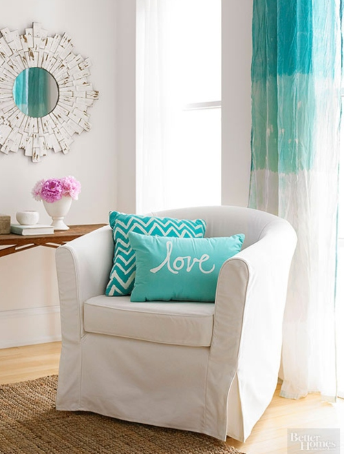 Teal Ombre Curtain Panels