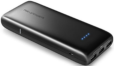 RAVPower Power Bank - 22000mAh Phone Battery Charger with 3-Port iSmart USB