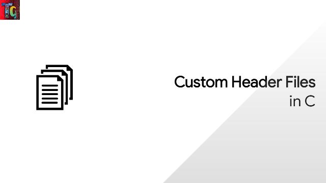Custom Header Files in C