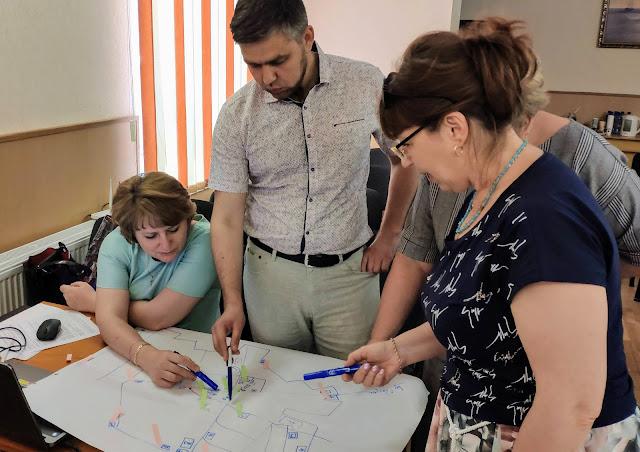 Опанування методу картування під час тренінгу для робочих груп з громадської безпеки у Генічеську