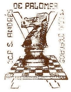 Primer escudo de la secció d'escacs del C.C. Sant Andreu