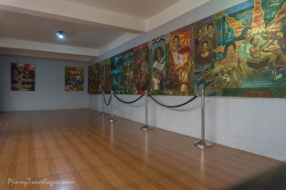 Jeho Bitancor's 4-panel painting depicting Baler's history