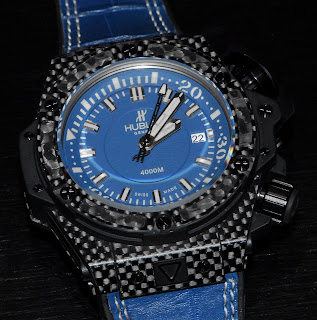 Montre Hublot King Power Oceanographic 4000 Carbon Denim 48mm référence 731.QX.5190.GR
