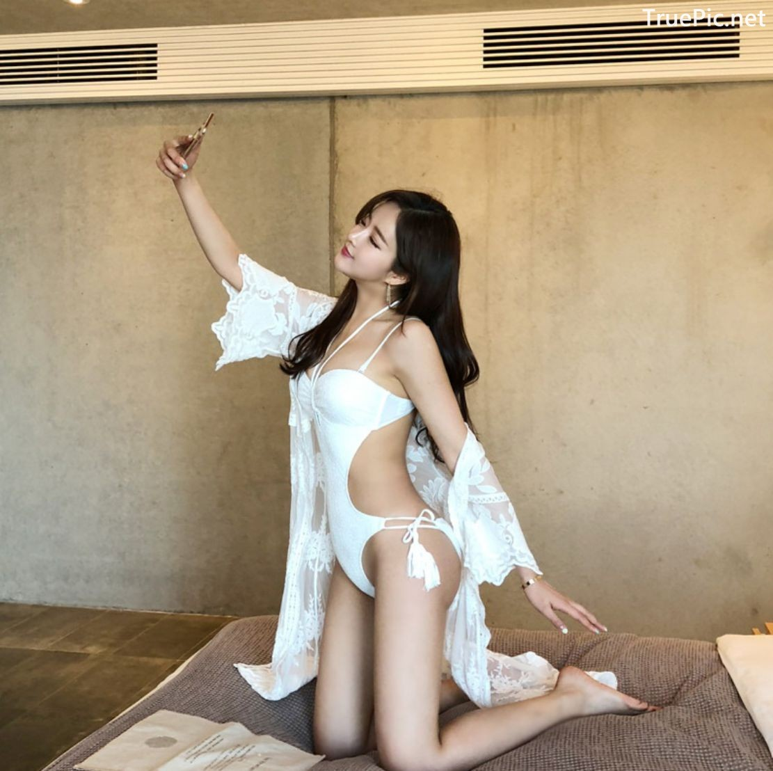 Image Korean Fashion Model - Kang Eun Wook - White Apple Swimsuit - TruePic.net - Picture-9