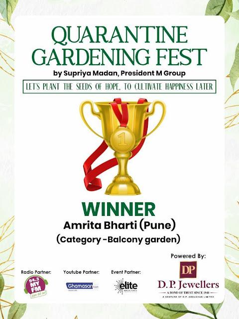 amrita bharti gardening certificate