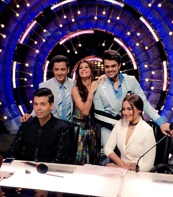 Sonakshi Sinha on the sets of dance reality show 'Jhalak Dikhhla Jaa'.