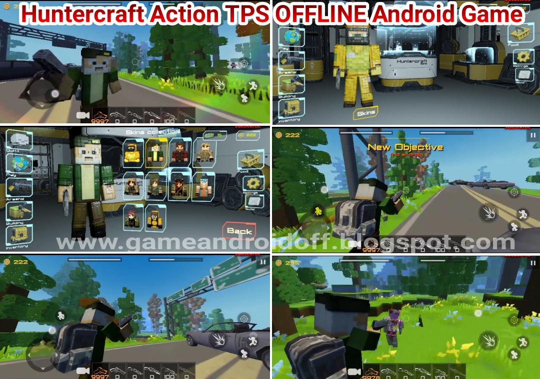 Huntercraft 25mb pixel sandbox TPS HD mirip Minecraft game ...