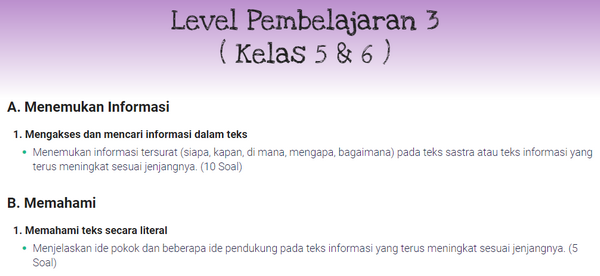 Soal Akm Literasi Level 3 Untuk Kelas 5 Dan 6 Websiteedukasi Com