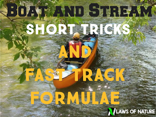 Boat and stream short-tricks in Hindi | Fast track arithmetic formulae for competitive examination.