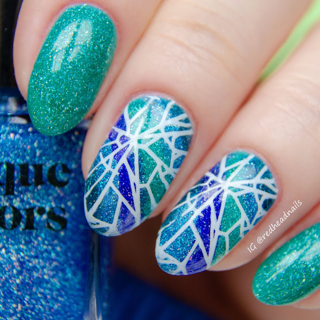 Cirque Colors facets 2018 stamping mani