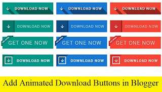 How to add Animated Download Button in Blogger with Pictures