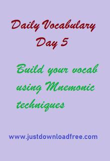 Easy memory tricks for vocabulary day 5