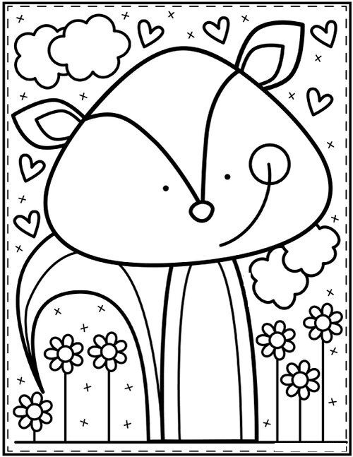 Tranh tô màu con vật cho bé 5 tuổi đáng yêu