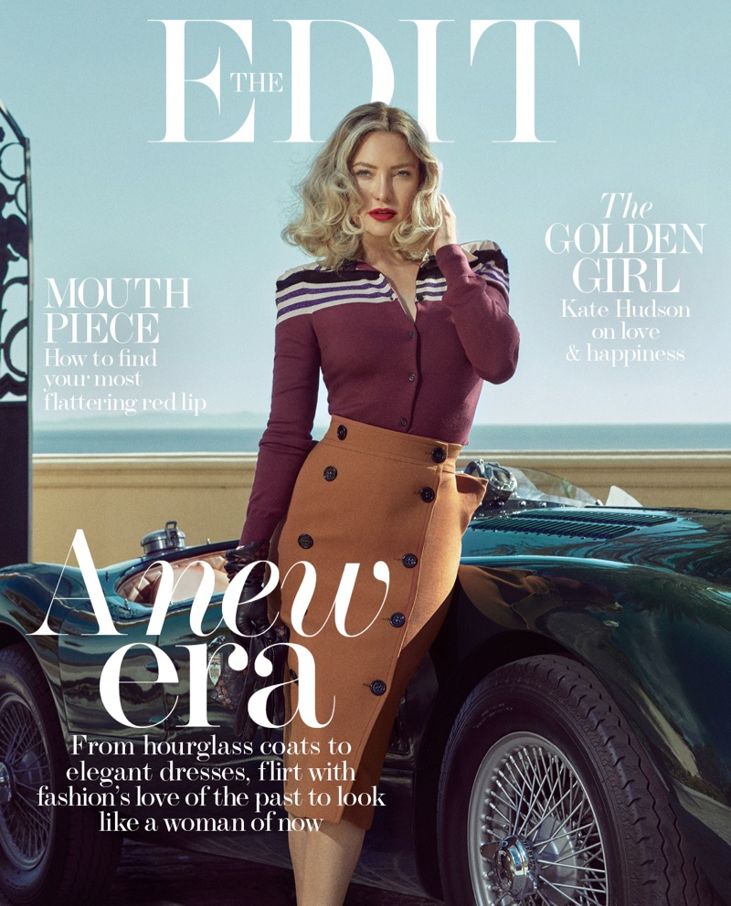 Kate Hudson sizzles in Retro 50's Style for The Edit