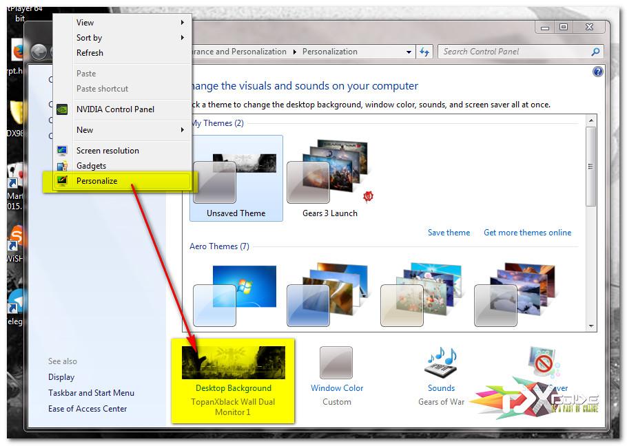 Cara Nonton Video/Movie Dual Monitor + Setting Wallpapers Windows 7