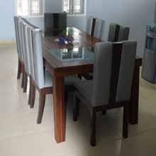 Glass, Wood, Leather Dining Set in Port Harcourt, Nigeria