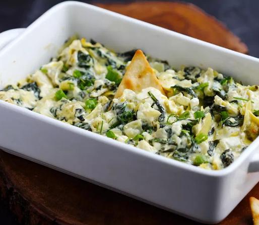 Creamy Parmesan Spinach Artichoke Dip