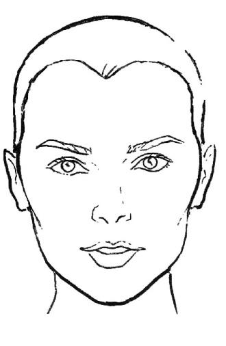 face shape outline