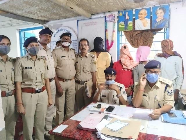 सात चोरी के मामलों का पुलिस ने किया उद्भेदन