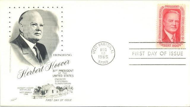 FDC, Honoring Herbert Hoover, 1965